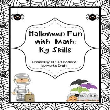 Halloween is Fun: Math Review for Kindergarten Skills