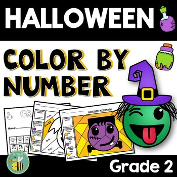 Halloween Math Activities-2nd grade {Color by number}