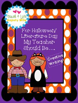 FREEBIE Halloween or Literature Day Costume_ My Teacher sh