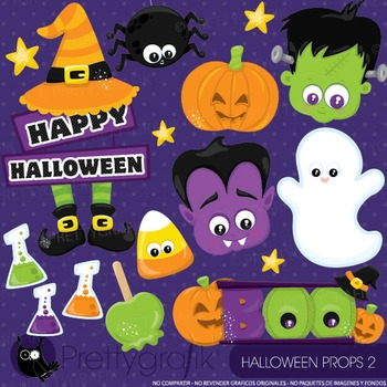 Halloween props 2 clipart commercial use, graphics, digita