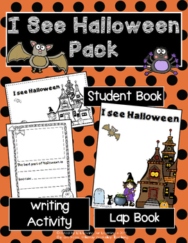 Halloween reproducible book- includes lap book and writing