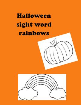 Halloween sight word rainbows
