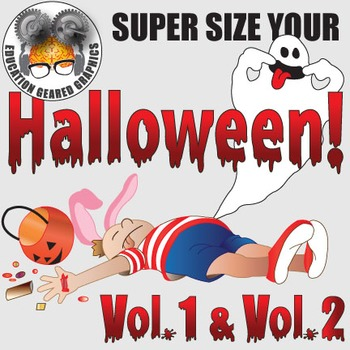 Halloween spooky creepy fun volumes 1 and 2 for classroom