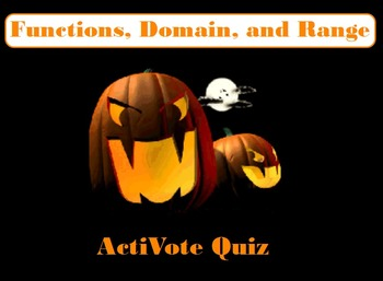 Halloween themed Functions, Domain, and Range ActiVote
