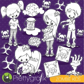 Halloween zombie stamps commercial use, vector graphics, i
