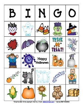 Halloween/Fall Bingo