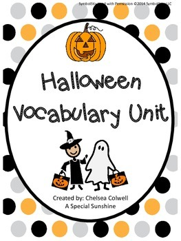 Halloween/October Vocabulary Unit