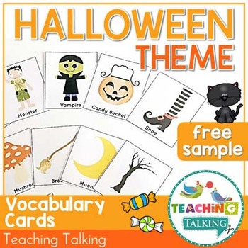 Halloween Vocabulary Cards (Freebie!)