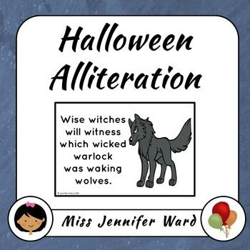 Halloween Alliteration Posters