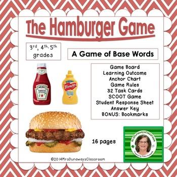 Hamburger Game:  identify the base word