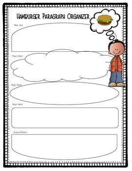 Hamburger Graphic Organizer