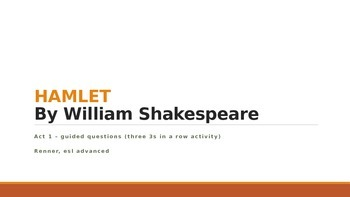 IR Hamlet Act 1 Three 3s in a Row lesson Plan