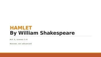 IR Hamlet Act 3 Scene 1 Lesson Ppt - soliloquy features