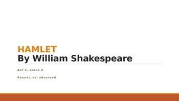 IR Hamlet Act 3 Scene 2 - use of dramatic irony lesson ppt