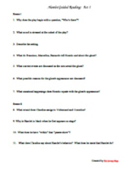 Hamlet Guided Reading Questions