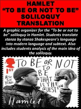 """Hamlet """"To Be Or Not To Be"""" Soliloquy Translation"""