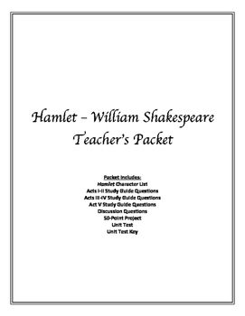 Hamlet - William Shakespeare TEACHER'S PACKET