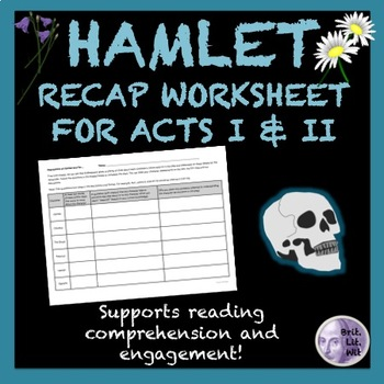 Hamlet Worksheet: Acts I & II