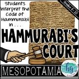 Hammurabi's Court {a fun and engaging activity to interpre