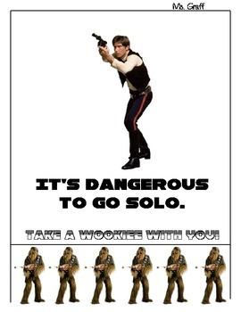 Han Solo Star Wars classroom sign