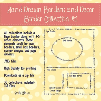 Hand Drawn Borders and Decor