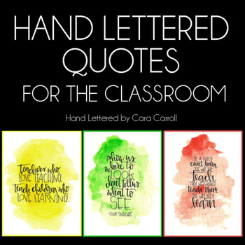 Hand Lettered Classroom Quotes Freebie