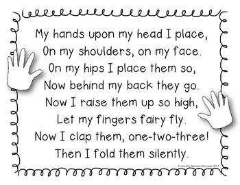 {Freebie!} Hand Poem for focusing attention