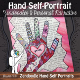 Hand Self-Portrait Art Lesson with ELA - Sub Plan