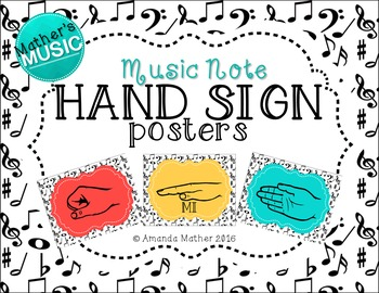 Hand Sign Posters - Music Note