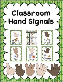 Jungle Theme - Hand Signal Chart