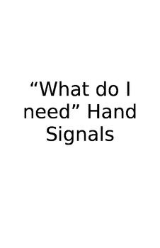 Hand Signal Charts