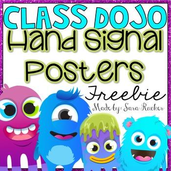Hand Signal Posters {Class Dojo Theme}