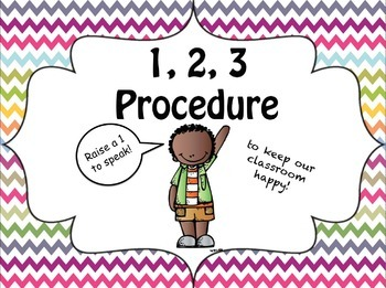 Hand Signals- 123 Procedure {FREEBIE}