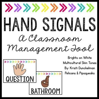 Hand Signals -- Brights on White