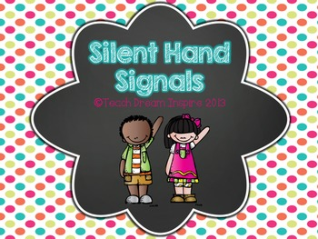 Hand Signals {Chalkboard and Polka Dot Theme}