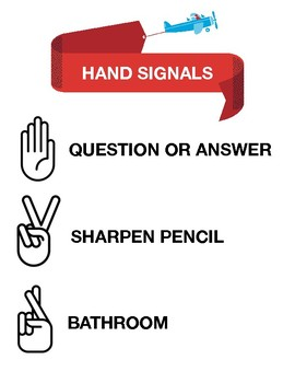 Hand Signals Poster {FREE}