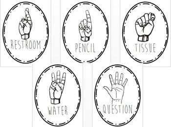 Hand Signals Posters (Black)