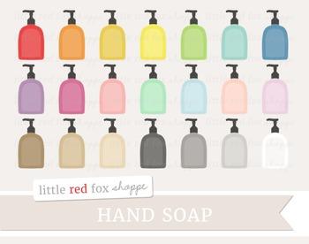 Hand Soap Clipart; Bathroom
