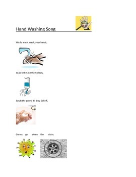 Hand Washing song-poster