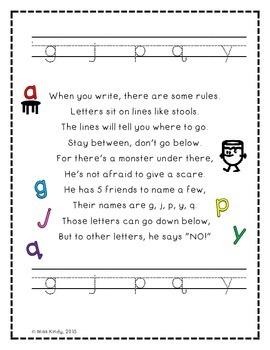 Handwriting Lines Poem