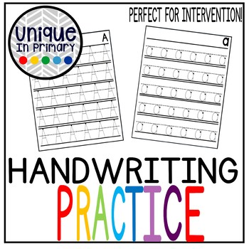 Hand Writing Practice: Uppercase and Lowercase Letters