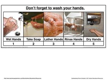 Handwashing Picture Schedule