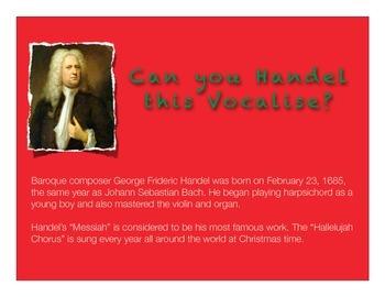 "Choir Vocalise using ""Hallelujah Chorus"" Excerpt for Singi"