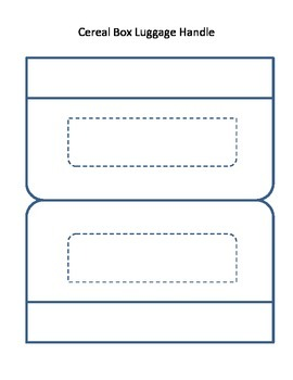 Handle Printable for Cereal Box