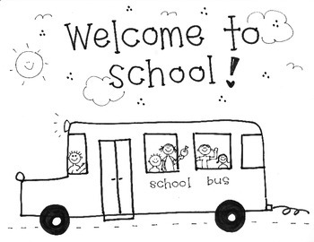 "Handmade ""Welcome to School"" with Bus"