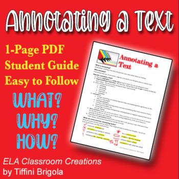 Handout: Annotating a Text