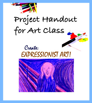 Handout for Art - Project for Emotional Drawing or Paintin