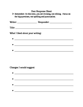 Handout for Peer Review