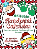 Handprint Calendar Christmas Gift