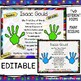EDITABLE Handprint Keepsake Poem for First Day of School -